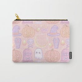Halloween Pixel Pattern Carry-All Pouch