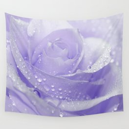 Rose with Drops 085 Wall Tapestry