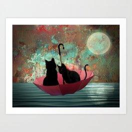 Midnight love 2 Art Print
