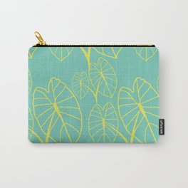 Lo'i Love Yellow on Teal Carry-All Pouch