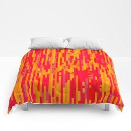 Magma Glitch - Digital Glitch Art Comforters