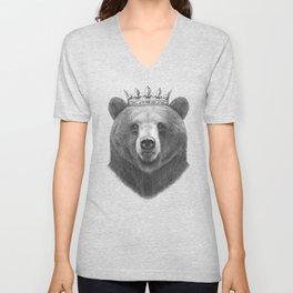 King bear Unisex V-Neck