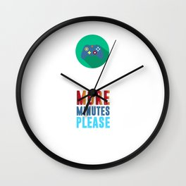 Five Minutes More Gamers Videogames Computer Controller Joysticks Xbox Gift Wall Clock