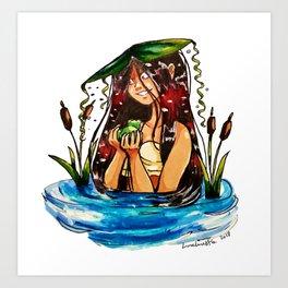 Taino Girl with Coqui Art Print