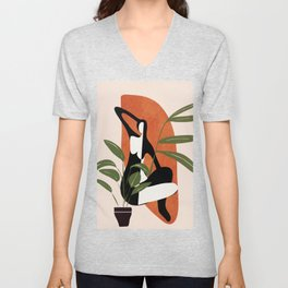 Abstract Female Figure 20 Unisex V-Neck
