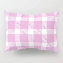 Plaid Soft Pink Pillow Sham