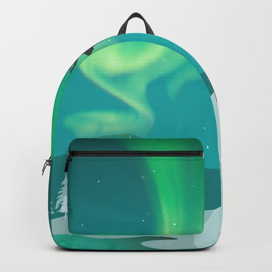 Magic Deer of the North Selas Aurora Borealis Backpack