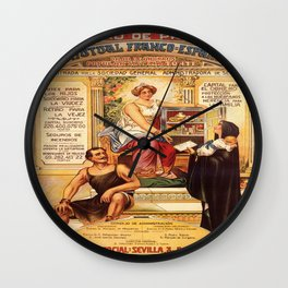Vintage poster - Sociedad de Prevision Wall Clock