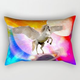 space unicorn. Rectangular Pillow