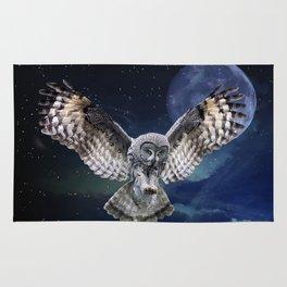 Owl in Flight Rug