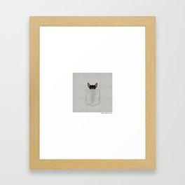 Pocket Chihuahua - Black Framed Art Print