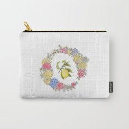Original Lemon Watercolor Painting, Fruit watercolor;  vita Carry-All Pouch