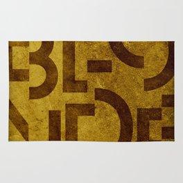Blonde Beer Typography Rug