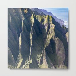 Hawaiian Magic: Angels' View Over Coastal Cliffs Metal Print