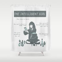 hermione Shower Curtains featuring Hermione Granger / The Intelligent Girl by Shelby Ticsay