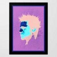 brad pitt Art Prints featuring Brad Pitt Digital illustration by Parveen Verma