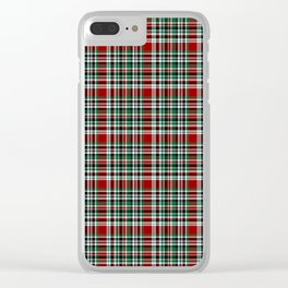 Holiday Plaid Clear iPhone Case