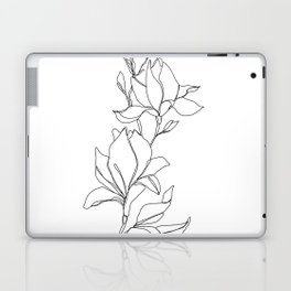Botanical illustration line drawing - Magnolia Laptop & iPad Skin