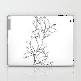 Botanical illustration line drawing - Magnolia Laptop & iPad Skin