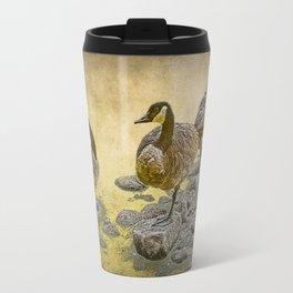 Canada Geese along the Shore Travel Mug
