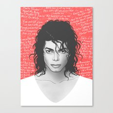 MJ Canvas Print
