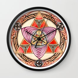 Pyramid Mandala Wall Clock