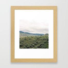 Savona fence Framed Art Print