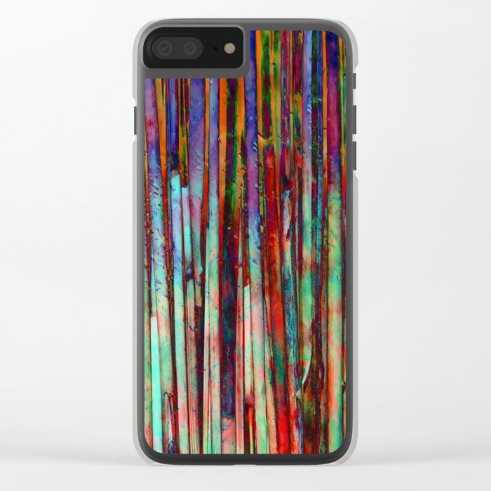 Colored Bamboo 2 Clear iPhone Case