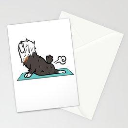 Old English Sheepdog Yoga Pose Stationery Cards