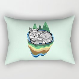 Snuggly fox Rectangular Pillow