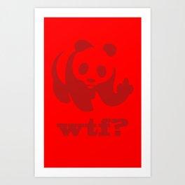wtf? Art Print