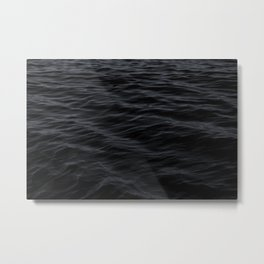 BLACK OCEAN PATTERN Metal Print