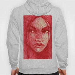 girl in red Hoody