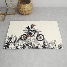 """""""High Flyer"""" Motocross Racer Rug"""
