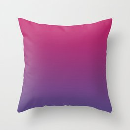 Pink Peacock Ultra Violet Gradient Pattern Throw Pillow