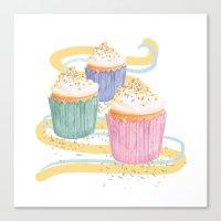sprinkles Canvas Prints featuring Sprinkles by Hayley Bowerman Design