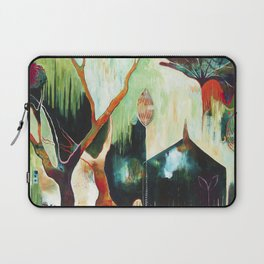 """""""Temple Lilies"""" Original Painting by Flora Bowley Laptop Sleeve"""