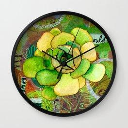 Pietra Rosetta Succulent Garden Wall Clock
