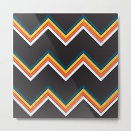 Classy Retro Stripes Pattern Suleviae Metal Print