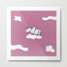 Flying Rhinoceros by Amanda Jones Metal Print