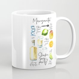 Margarita Recipe Watercolor Illustration Coffee Mug
