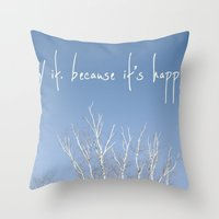 the perks of being a wallflower Throw Pillows featuring perks of being a wallflower - life is happening by lissalaine