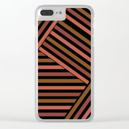 Striped pattern , patchwork 2 Clear iPhone Case