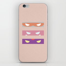 Teenage Minimal Ninja Baddies iPhone Skin