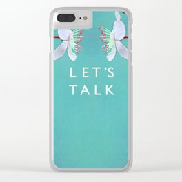 let's talk: turquoise variations Clear iPhone Case