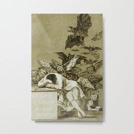 Francisco Goya - The Sleep Of Reason Produces Monsters Metal Print