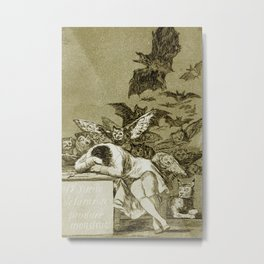 Francisco Goya - The Sleep Of Reason Produces Monsters Metal Print