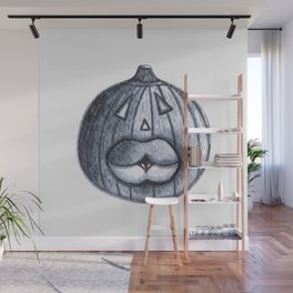 Pumpkin with Swollen Lips Wall Mural