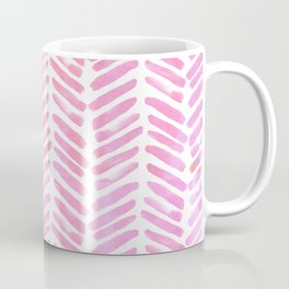 Handpainted Chevron pattern - pink and pink ;) Coffee Mug
