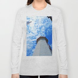 North Cape Lighthouse and Communication Tower Long Sleeve T-shirt